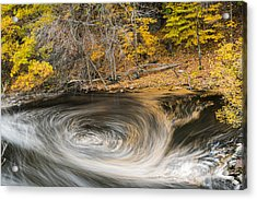 Newton Upper Falls Whirlpool Newton Ma Acrylic Print by Toby McGuire