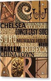 Newyork Neighborhoods Acrylic Print by Marilu Windvand