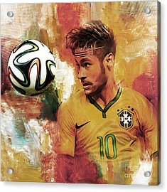 Neymar 05d Acrylic Print by Gull G