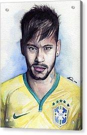 Neymar Acrylic Print