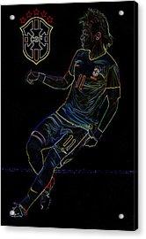Neymar Neon II Acrylic Print