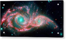 Ngc 2207 And Ic 2163 In The Canis Major Constellation Acrylic Print