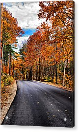 Nh Autumn Road 1 Acrylic Print