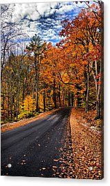 Nh Autumn Road 3 Acrylic Print