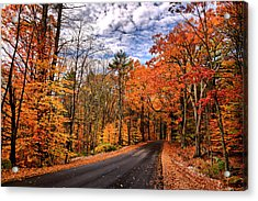 Nh Autumn Road 4 Acrylic Print