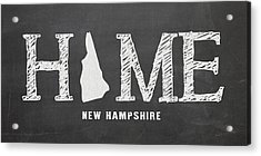 Acrylic Print featuring the mixed media Nh Home by Nancy Ingersoll