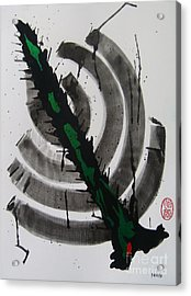 Acrylic Print featuring the painting Ni Taitoru Mitei by Roberto Prusso