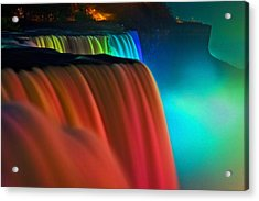 Niagara Falls At Night Acrylic Print