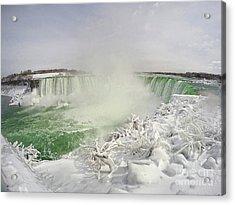 Acrylic Print featuring the photograph Niagara Falls Beautiful Winter Scene by Charline Xia