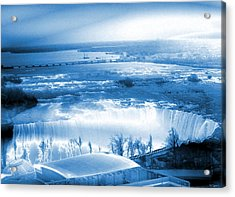 Niagara Falls From High Above Acrylic Print by Abstract Angel Artist Stephen K
