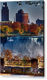 Acrylic Print featuring the photograph Niagara Falls From Ontario by Don Nieman