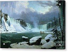 Niagara Falls Acrylic Print by Hippolyte Victor Valentin Sebron