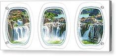 Niagara Falls Porthole Windows Acrylic Print