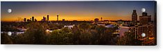 Acrylic Print featuring the photograph Niagara Falls Twilight From The 9th Floor by Chris Bordeleau