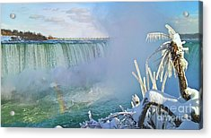 Acrylic Print featuring the photograph Niagara Falls Winter Landscape by Charline Xia