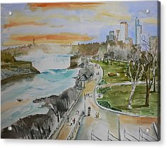 Acrylic Print featuring the painting Niagara In Spring by Geeta Biswas