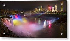 Acrylic Print featuring the photograph Niagara Rainbow by Mark Papke