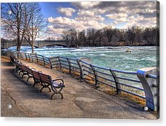 Niagara Rapids In Early Spring Acrylic Print