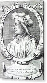 Niccolo Machiavelli Acrylic Print
