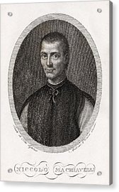 Niccolo Machiavelli, Italian Philosopher Acrylic Print by Middle Temple Library