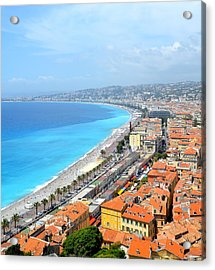 Nice France Coastline Acrylic Print by Corinne Rhode