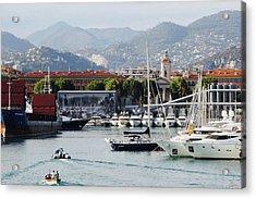 Acrylic Print featuring the photograph Nice Harbour Life by Rasma Bertz