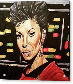 Uhura  Acrylic Print by Russell Boyle