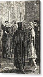 Nicholas Ridley, C. 1500 To 1555, On Acrylic Print