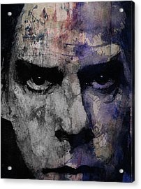 Nick Cave Retro Acrylic Print by Paul Lovering