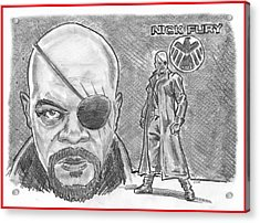Nick Fury- Agent Of Shield Acrylic Print by Chris  DelVecchio