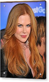 Nicole Kidman At Arrivals For Just Go Acrylic Print