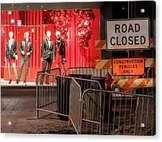 Men At Work  On Nicollet Mall Acrylic Print