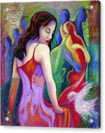 Nidia Acrylic Print by Claudia Fuenzalida Johns