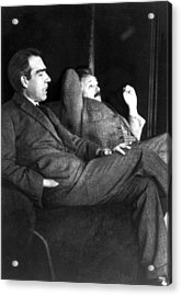 Niels Bohr And Albert Einstein Acrylic Print
