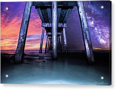 Night And Day Difference- Pensacola Beach Acrylic Print by Brent Shavnore