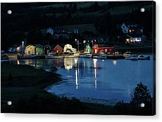 Acrylic Print featuring the photograph Night At French River Harbour, Pei by Rob Huntley