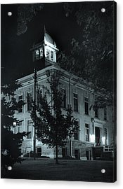 Night At The Court House Acrylic Print by Jim Furrer