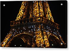 Night At The Eiffel Acrylic Print by Susie Weaver