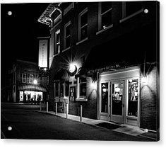 Night At The Everett Hotel In Black And White Acrylic Print