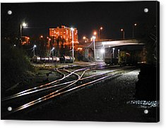 Night At The Railyard Acrylic Print