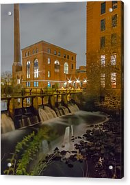 Night At The River Vertical Acrylic Print