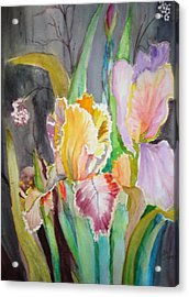 Acrylic Print featuring the painting Night Blooms by AnnE Dentler