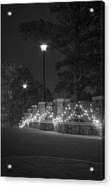 Night Bridge In December Acrylic Print