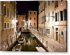 Night Bridge Acrylic Print by Marco Missiaja