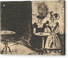 Night Cafe Acrylic Print by Edvard Munch
