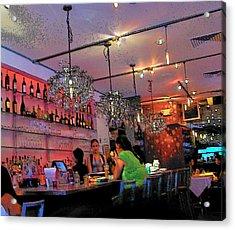 Night Cafe New York Acrylic Print by Vijay Sharon Govender
