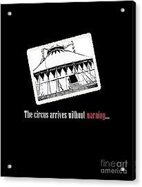 Night Circus Tee Black Acrylic Print