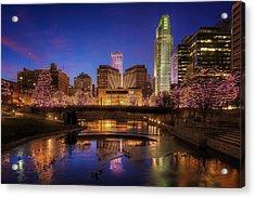 Night Cityscape - Omaha - Nebraska Acrylic Print