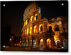 Night Colosseum Acrylic Print by Kevin Flynn
