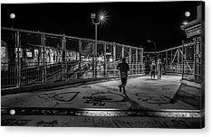Night Commute  Acrylic Print by Jeffrey Friedkin